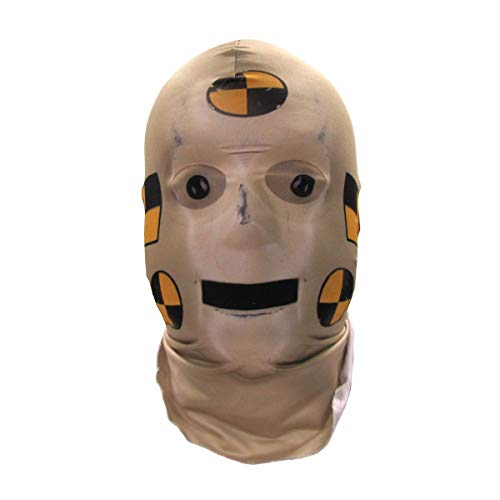Faux Real Unisex-Adult's Halloween 3D Photo-Realistic Full Fabric Face Mask, Crash Test Dummy, One Size Fits