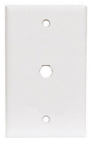 Coaxial Cable Feed - Ace White Coaxial Cable Feed-Thru Wall Plate 34627