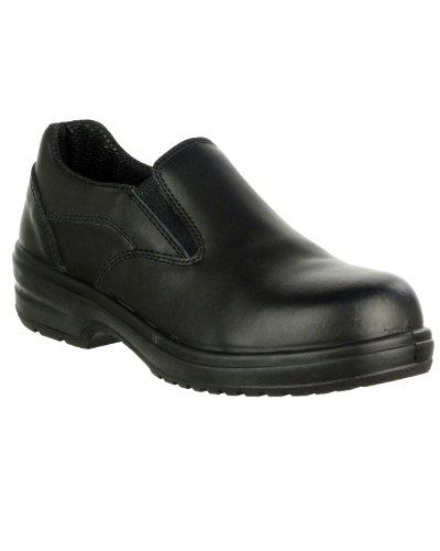 Neue Amblers Sicherheit Schuhe FS93C Damen Pantolette PU-Sohle-Schuhe, Schwarz