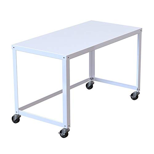 """Office Dimensions 21647 White RTA 48"""" Wide Mobile Metal Desk Workstation Home Office Collection"""