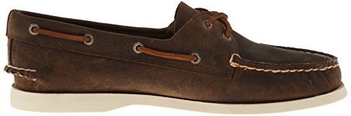 Sperry Top-Sider Damen Authentic Original Zwei-Augen-Bootsschuh Braun Distressed