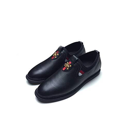 Cuatro Ayudar Holgazanes Zapatos Nuevos Black De Estaciones Los Para Bajo Superior Casuales Cuero Hombres Alta Capa La Yxlong A Gama Otoño aUzwz