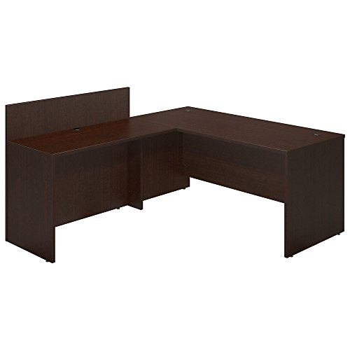 (Bush Business Furniture Series C Elite 66W x 30D Desk Shell with 48W Privacy Return in Mocha Cherry)