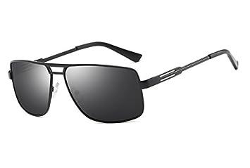 6f8393efd8d58 TL-Sunglasses Polarisé Lunettes Cadre carré Noir Guide Hommes Lunettes  Homme Lunettes de Soleil pour