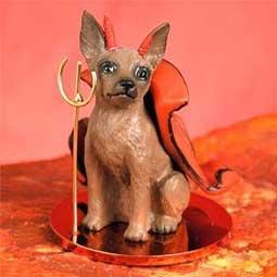 Miniature Pinscher Little Devil Dog Figurine - (Devil Dog Figurine)