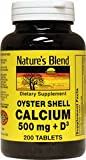 Nature's Blend Oyster Shell Calcium 500 mg with D3 200 Tabs Review
