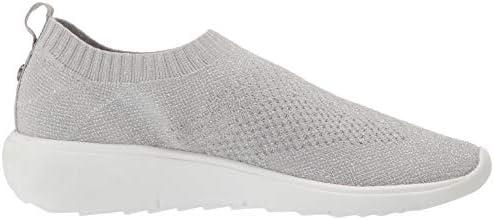 Anne Klein Women's Wiley Knit Sneaker, Grey, 8.5 M US