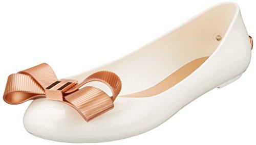 Pedir precio barato Larmiar Pvc Arco Resbalón De Ted Baker Mujeres En El Zapato Plano Del Blanco / Rosa De Oro Blanco De moda Disfrutar KEVPHTXP