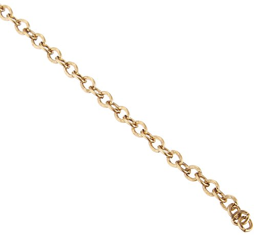 TierraCast Chain, 2.5x4mm, Cable Antique 22K Gold Plate, 2-Feet ()