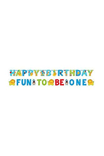 One Wild Boy Birthday Party Jumbo Letter Banner Kit Decoration, Multi Colored, Paper, Assorted Sizes, -