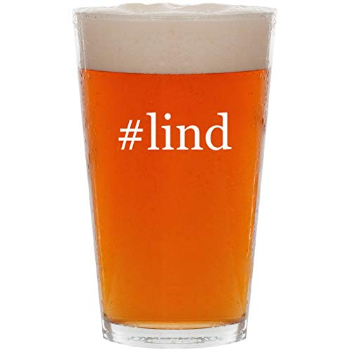 #lind - 16oz Hashtag Pint Beer Glass
