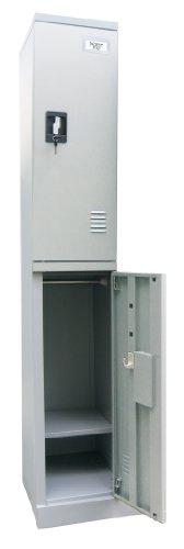 Lockers 2 Tier Steel - Sandusky Lee KDCL7212/2-05 Dove Gray Powder Coat Steel SnapIt 2-Tier Locker, 72