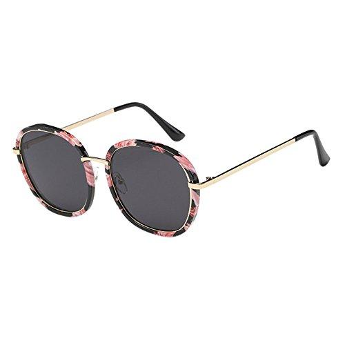 d0867afed0 Hzjundasi Retro Mujer Hombres Marco redondo Los anteojos Conducción Gafas  de sol Miopía Anti-UV