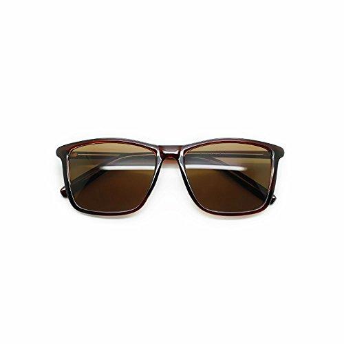 para diseño Marrón Color Negro marrón Sunglasses Retro Mujer 14cm Hombre 14 Caja 5 LCCFfashion y Box f0wtq1