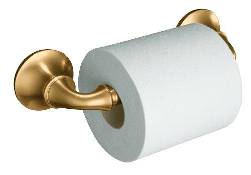 KOHLER K-11374-BV Forte Sculpted Toilet Tissue Holder, Vibrant Brushed (Tissue Holder Vibrant Brushed Bronze)