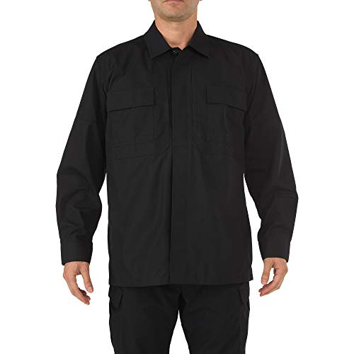 5.11 Tactical Ripstop TDU Long-Sleeve Shirt,Black,X-Large - Armor Special Operations Body