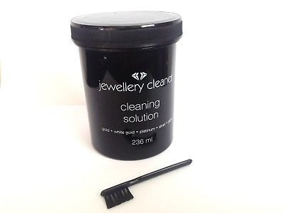 GBY ® Jewellery Cleaner Liquid Cleaning Solution With Brush [Gold, Silver, Gems, Platinum] 235ml