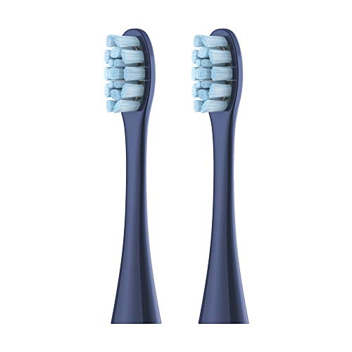Oclean PW05 Replacement Brush Heads for Oclean X Pro Dark Slate Blue, Compatible with All Oclean Electric Sonic Toothbrushes, Standard Cleaning - 2 Packs