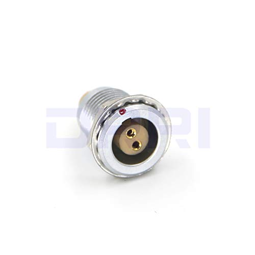 DRRI 1B FGG Egg 2 3 4 5 6 7 8 10 12 14 16 Pin Push Pull Connector Male Plug & Female Socket (2 Pin, Socket) ()