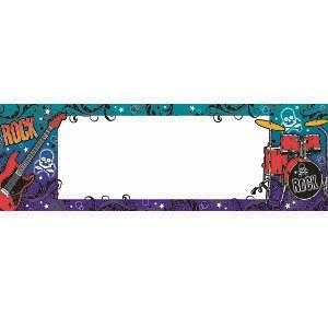 Rock'n'roll banner to -