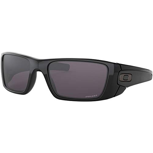 Oakley Men's OO9096 Fuel Cell Rectangular Sunglasses, Polished Black/Prizm Grey, 60 mm (Sun-glasses.com)
