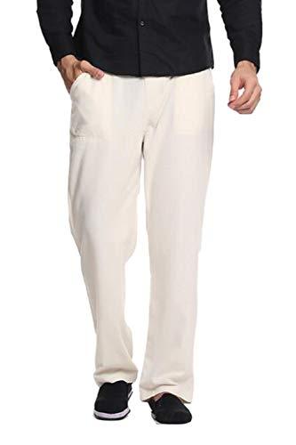 Occasionnels Hommes Pantalons Les Droit De Bien Coton Linge Beige Vepodrau qF76x8n5