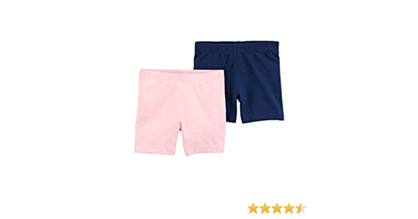 Carters Baby Girls 2-Pack Tumbling Shorts Navy//Pink