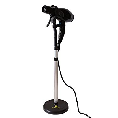 Luxury Hair Dryer Stand With Heavy Non-Tipping Base - Adjustable Height - Hands Free Blow Dryer Holder by Bianchi