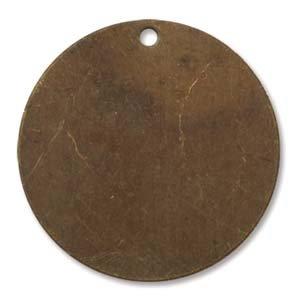 Vintaj Natural Brass Rustic Altered Blank Circle Pendants 25mm (4) 39073