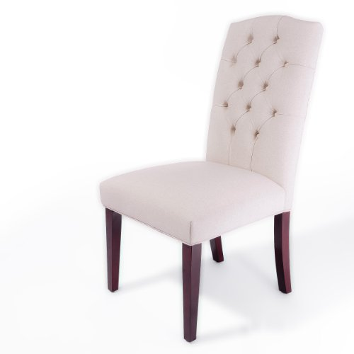 Best-Selling Crown Top Ivory Dining Chair, 2-Pack Noticeable