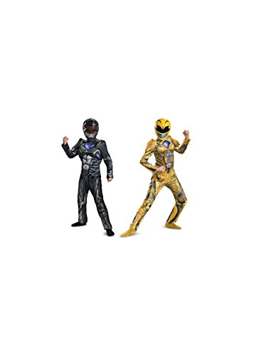 Yellow Power Ranger Costume Child (Big Boys' Black and Yellow Power Ranger Costume Duo)