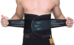 UTRAX Sweating Adjustable Weight Loss Slimming Belt Waist Trimmer Back Support for Men Women, 30''-37''Waistline(L)