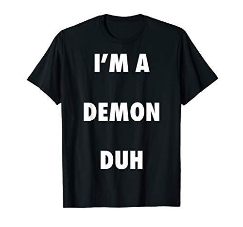 Easy Halloween Demon Costume Shirt for Men Women Kids ()