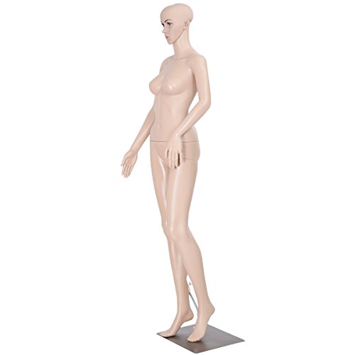 Full Body Female Mannequin Plastic Realistic Display Dress Form w/ Solid Metal Base by FDInspiration