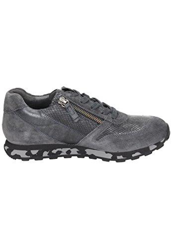 Gabor Gabor Damen Sneaker - Zapatos de cordones de Piel para mujer gris