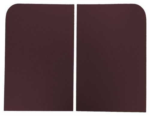 Acme Auto Headlining Co Acme AFH24S-FB1666 ABS Plastic Sun Shades With Claret Foamback (Claret Shades)