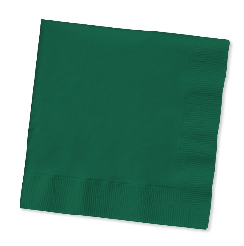 Creative Converting 100 Gorgeous Hunter Green Beverage/Cocktail Napkins for Wedding/Party/Event, 2ply, Disposable, 5
