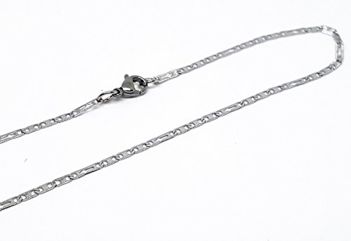 4-3196-f10 316l Stainless Steel Alternative Flat Marine and Crosses Chain. 2mm -