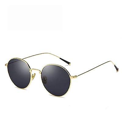 FeliciaJuan Metal Frame Unisex Aviator Sunglasses Mirrored Polarized Lens