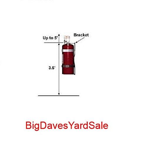 (6 Pack) - Universal Fire Extinguisher Wall Hook, Mount, Bracket, Hanger for 15 to 20 Lb. Extinguisher - FREE SCREWS & WASHERS INCLUDED by BigDavesYardSale (Image #6)