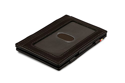 Chocolate Nappa Leather (Garzini Magic Wallet RFID ID Window Leather Essenziale Nappa Edition (Chocolate Brown))