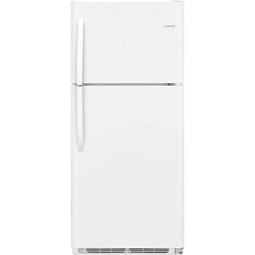 Frigidaire FFTR2021TW 30 Inch Freestanding Top Freezer Refrigerator with 20 cu. ft. Total Capacity, 2 Glass Shelves, 5.1 cu. ft. Freezer Capacity, in White