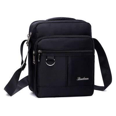 Men39;s Fashion Oxford Crossbody Bag Multifunctional Male Shoulder Messenger Bags Large Capacity Business Bolsa Masculina Black