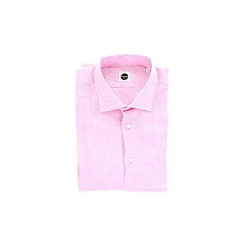 Bagutta Men's Bc145l00045pink Pink Linen Shirt