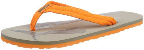 Puma Epic Flip V2 Jr Unisex-Kinder Zehentrenner Grau (Rock Ridge-Vibrant Orange)
