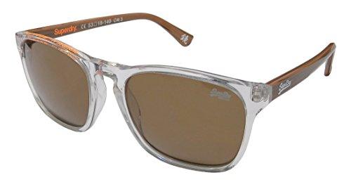 Superdry Sds Go Mens Designer Full-rim 100% UVA & UVB Lenses Sunglasses/Shades (53-18-140, Clear / - Case Sunglasses Superdry