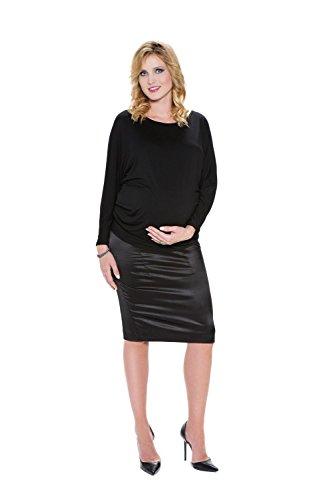 My Tummy Maternité jupe satiné noir