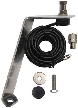 FORD F-150 Front Hood Antenna Mount For Amateur Ham Commercial and CB Two Way Antennas With Cable!