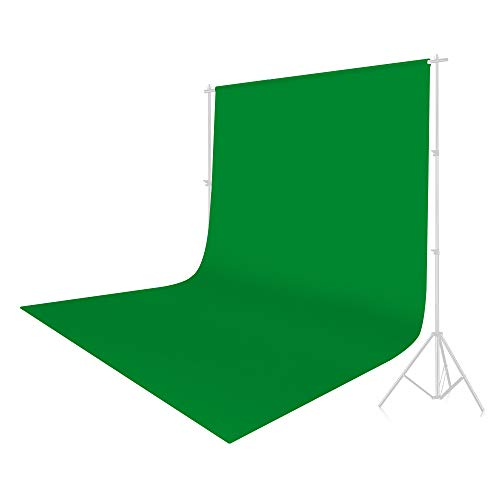 UTEBIT 6 x 9FT/1.8 x 2.8M Chromakey Backdrop Polyester Green Screen Photo Muslin Background Cloth Sheet Wrinkle Resistant Backdrops Solid Color for Photography,Video,Television