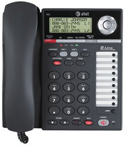 AT&T 993 2-Line Phone w/Caller ID Charcoal by AT&T